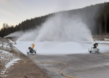Snow production for WCH began