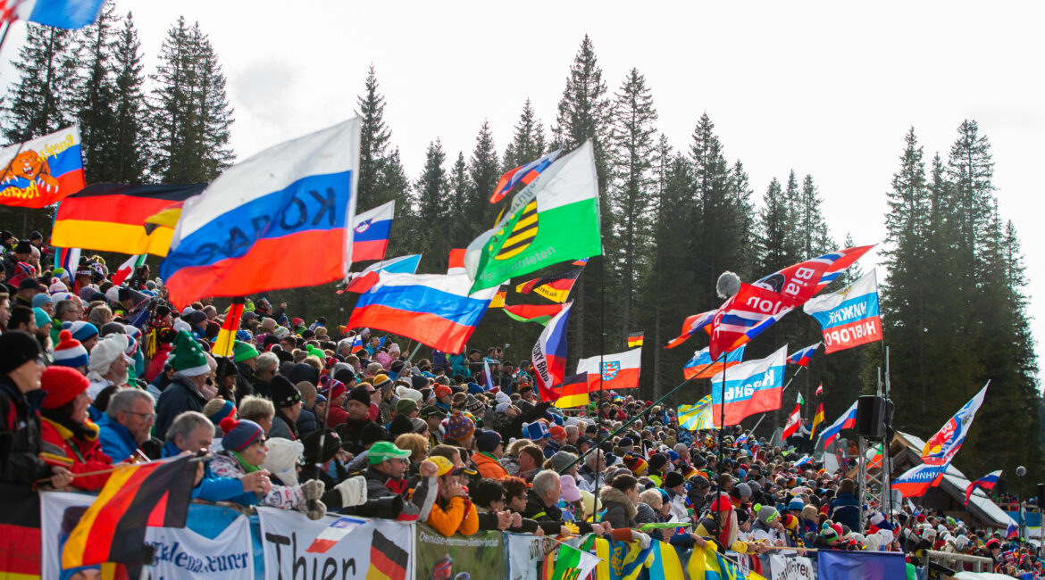 Spectators at WC Pokljuka